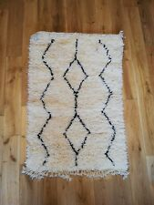 Beni Ourain Wool ethnic Traditional Handmade Carpet Rug Berber Amazigh Moroccan
