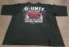 3XL Vintage G Unit Black T Shirt Tee Men's 50 Cent Hip Hop Rap Grind to Shine