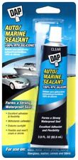 DAP 100% RTV Silicone AUTO MARINE SEALANT Waterproof Clear Saltwater 2.8oz 00756