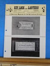 Key Lock and Lantern Magazine #72 Summer 1984 V17 #4 West Shore Buttons Sargent