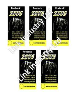 5 x Deal - Zeus Precision Engineers Metric Data Book Charts & Reference Tables
