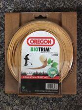 OREGON BIOTRIM biodegradable strimmer trimmer cutting line 2mm x 126metres REEL