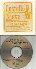 ELVIS COSTELLO Ultra Rare LIVE in CHICAGO 4TRX PROMO DJ CD single 1996 USA