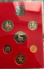UK Coins Proof Set 1981 All 1/2p To 50p In Plastic Blister B1.009
