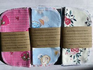 Cotton Wipes Eco Washable Reusable Baby Facial Family Hankie Pack Of 30 19cm