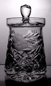 Tutbury Crystal Cut Glass Honey Pot Preserve Jar Great Present Perfect Item