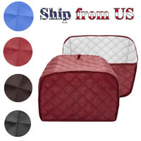 Quilted Two Slice Toaster Appliance Dust-proof Protection Cover Red Blue Black