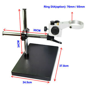 76/85mm Ring 25mm Heavy Duty Microscope Head Arm Boom SupportStereo Table Stand