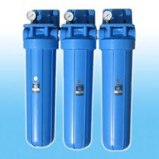 Lot de 3 Big Blue Sédiment CHARBON ACTIF Adoucisseur d'eau
