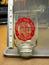 CHRIST THE KING RAIDERS Catholic school logo drinking glass OHIO Toledo logo