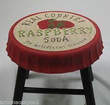 Tender Treasures Raspberry Pop (Soda) Bottle Cap Design Stool/Stand 102624 New