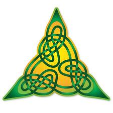 "Celtic Irish Ireland Lindisfarne bumper sticker 4"" x 4"""