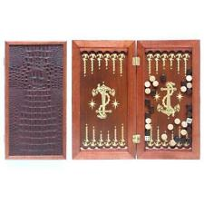 Anchor Luxury Backgammon Set Leather Pieces Travel Portabl Tournament Board Game