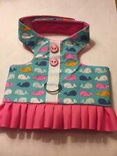 Dog handmade Harness vest ruffle skirt Size S(#150)