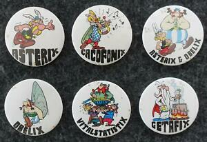 Asterix Und Obelix (1978) Button Badge Pin Set - 6 Verschiedene Buttons
