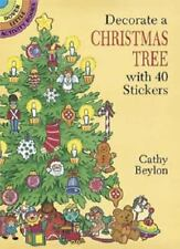 DECORATE A CHRISTMAS TREE WITH 40 STICKERS, Dover, large tree scene, acid-free