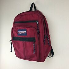 Vintage 90's JANSPORT USA Red Canvas Student Backpack Daypack Travel Carry On