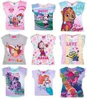 Girls Kids Official Character Various Short Sleeve T Tee Shirt Top 2 - 12 Years