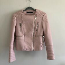 Zara Faux Leather Motorcycle Jacket - Size S