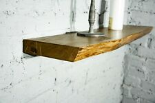 Floating Shelf Steel Bracket, Live Edge,