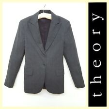 Theory $355 classic two-button gray suit jacket/blazer~S