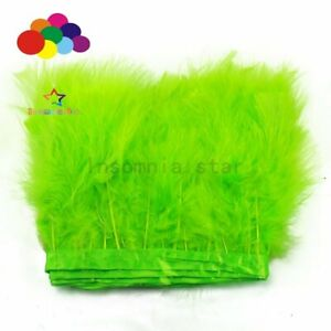 2 Meters Fruit green Marabou Turkey Feathers Trim Craft Diy Wedding Home Party