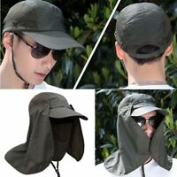 Fishing Hiking Hat Outdoor Sport UV Sun Protection Neck Face Flap Cap Wide Brim,
