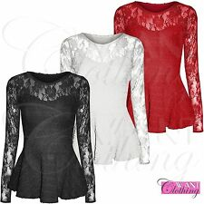 Waist Length Party Lace Classic Tops & Shirts for Women