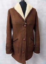 Ladies Brown Bespoke Sheepskin Coat Size 12 CC4048