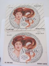 Venida 1940's vintage Hair Net Lot 2 New White Mesh Invisible orig package
