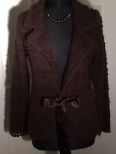 Monsoon thick brown cardigan with ribbon tie (size 12)