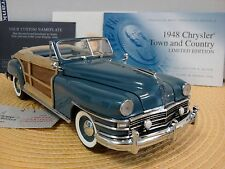 FRANKLIN MINT 1948 CHRYSLER TOWN & COUNTRY..1:24..RARE LE #149..UNDISPLAYED