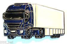 HGV Artic Truck Lorry Tractor Unit & Trailer Metal Enamel Pin Badge 30mm