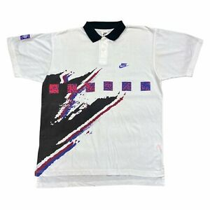 Nike Challenge Court Polo Shirt   Vintage 90s Retro Tennis Sportswear Medium VTG