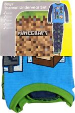Minecraft 2-Piece Long Sleeve Thermal Underwear Pajama Set for Boys
