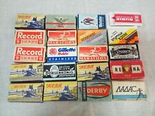 Large SET 19 packs Soviet and Imported vintage shaving blades of the USSR
