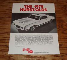 Original 1972 Hurst Oldsmobile Sales Brochure Fact Sheet 72 Olds
