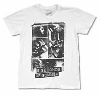 5 Seconds Of Summer Collage White T Shirt New Official Adult Pop Punk Band