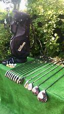 Mens RH Wilson ProStaff Full Graphite Prosimmom Golf Clubs Set Irons Woods Bag