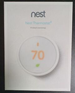 BRAND NEW NEST PROGRAMMABLE THERMOSTAT E WHITE MODEL T4000ES
