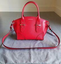 ALEXANDER MCQUEEN Small Legend Satchel Handbag Red NEW
