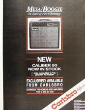 retro magazine advert 1987 MESA BOOGIE CALIBER 50 / CARLSBRO