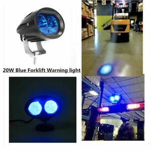 20W LED Forklift Truck Blue Warning Lamp Spot Light Safety Work IP67 Waterproof