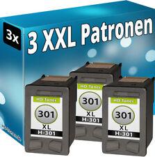 3x Patronen für HP 301-XL DeskJet 1514 2054a 2510 2514 2542 2543 2544 2547 2548