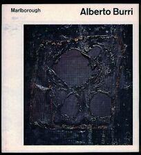Alberto Burri. Catalogo di mostra, Marlborough-Gerson Gallery, New York 1963