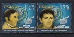 EL SALVADOR J.M. Calderon y San Martin & M.J. de Castro y Lara(Elections)MNH set