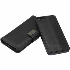 Genuine Mossimo iPhone 6 6s Mag Latch Wallet Case Cover Black Quality Leather