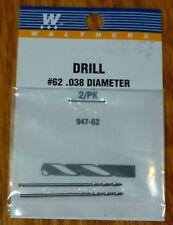 "Walthers #947-62 Drill Bit - #62 - .038"" Diameter (2 Pack)"
