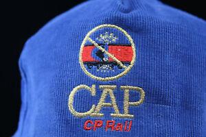 CP CAP Canadian Pacific Railroad Corduroy Hat Cap Snapback