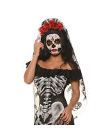 Underwraps Day of the Dead Mantia Sugar Skull Halloween Costume Headband 28675